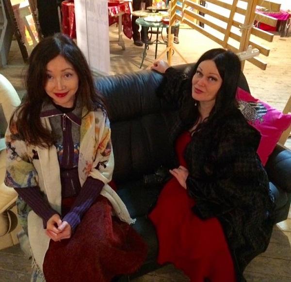 Алла Абсалямова и Александра Загряжская Участники мероприятия в Творческой Мастерской Рябичевых
