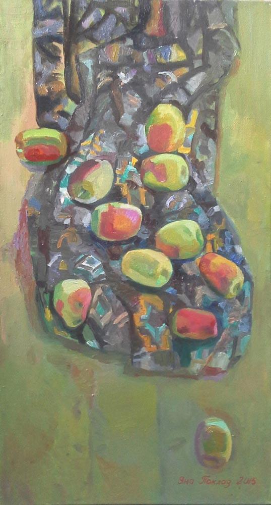 Яблоки на драпировке_1000_ Яна Поклад