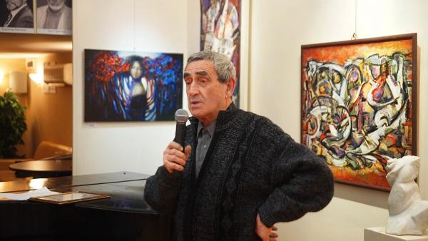 Выступление художника Павла Никонова  на открытии выставки  в Российской Академии искусств 15 марта 2017 года