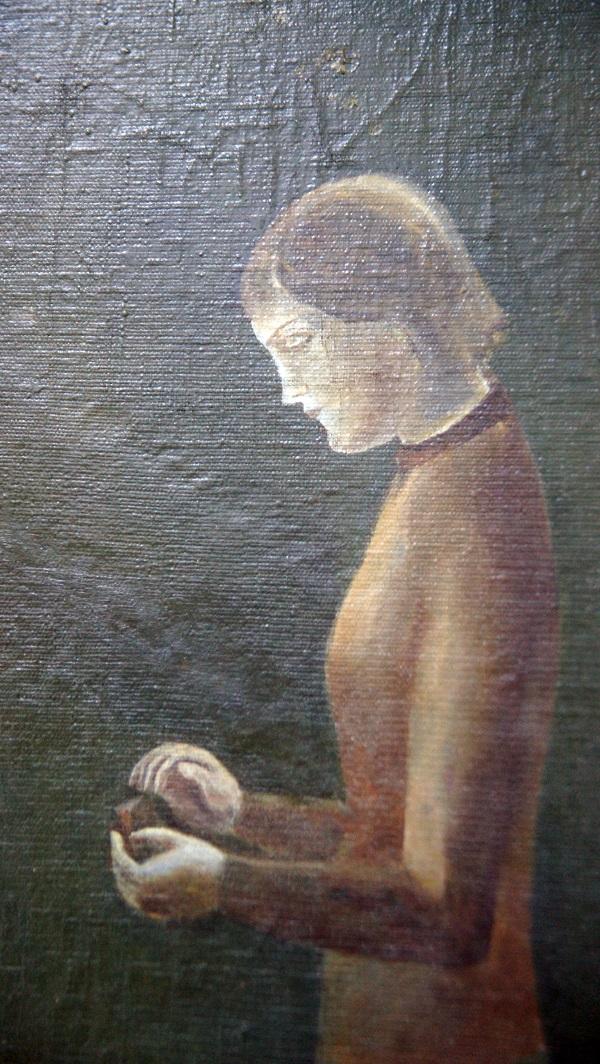 """Образ молодой женщины в картине Евгения Струлева """"Памяти Виктора Попкова"""""""