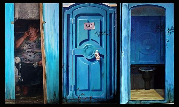 """Художник  Андрей Шатилов Выставка  """"Там был город""""  AlpertGallery"""