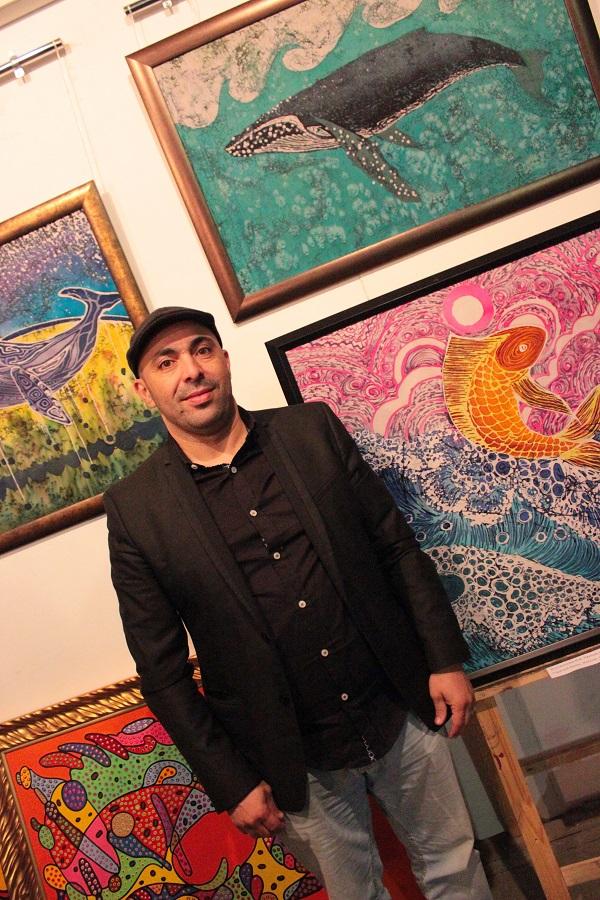 Выставка Ирины Богомоловой в Творческой Мастерской Рябичвых Тауфик на фоне картин АРТ-Релиз.РФ