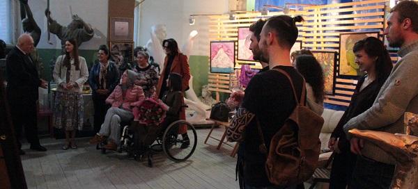 Выставка Ирины Богомоловой в Творческой Мастерской Рябичвых открытие с Виктором Пензиным АРТ-Релиз.РФ