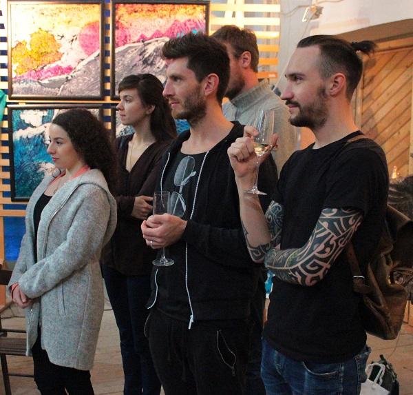 Выставка Ирины Богомоловой в Творческой Мастерской Рябичвых открытие с  друзьями АРТ-Релиз.РФ