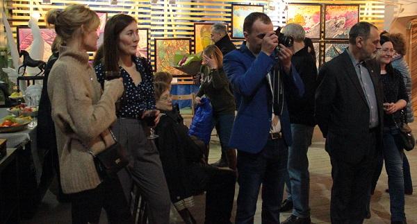 Выставка Ирины Богомоловой в Творческой Мастерской Рябичвых открытие   . АРТ-Релиз.РФ