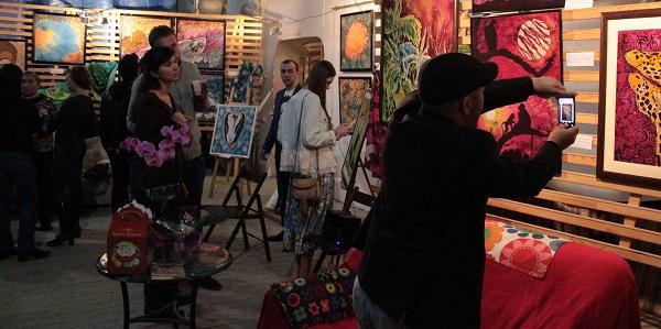 Выставка Ирины Богомоловой в Творческой Мастерской Рябичевых открытие АРТ-Релиз.РФ