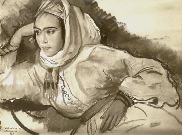 """Зинаида Серебрякова """"Марроканка"""" 1928 г.  частное собрание"""