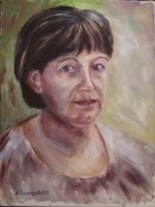 Лидия Тихонравова Автопортрет