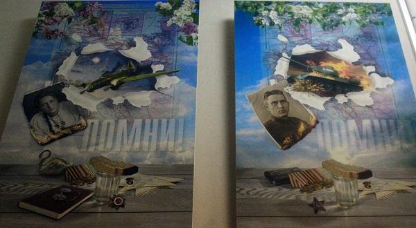 Работы Сергея Погорелого на выставке,  посвященной Дню Победы в Студии В.В.Верещагина