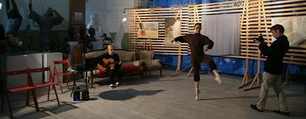 Влад Баранский и балерина Муцки Йосида в Мастерская Рябичевых.(фото 5) Арт-Релиз.РФ