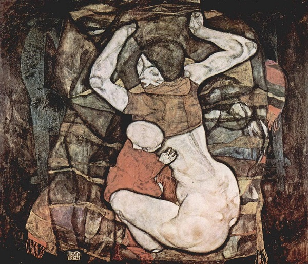 """Эгон Шиле """" Молодая мать""""  1014 г. 100х120 частная коллекция  Вена, Австрия"""
