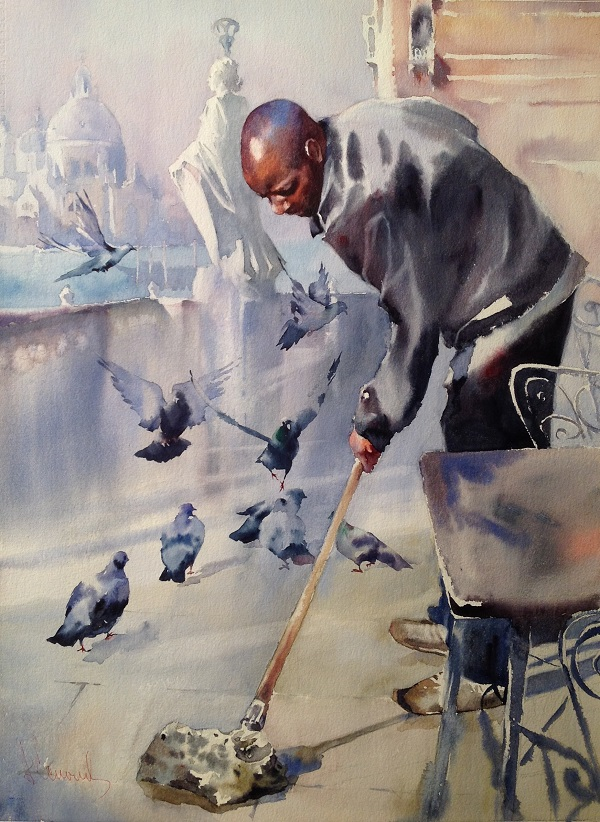 Андрей Есионов «Венецианская сказка»  2017 г.  бум. акв.  76 х 56  «Venetian tale» 2017 Watercolor 76 x  56