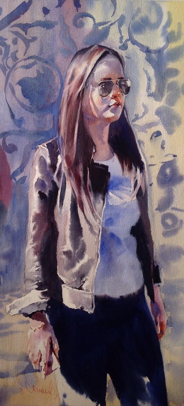 Андрей Есионов «Нотки северной столицы»  2017 г.  бум. акв.  76 х 56 «Notes of the Northern capital» 2017 Watercolor 76 x 56