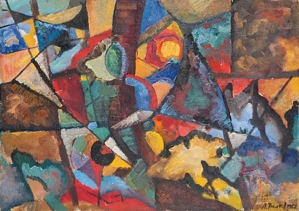 "Александр Волков ""Восточные мотивы""  1962 г. холст на картоне, масло  50х70"