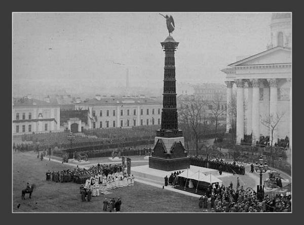Открытие Колонны Славы в 1886 году архивное фото