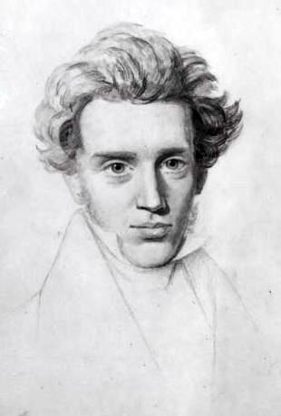 Сёрен Крекьегор Незаконченный эскиз портрета.  Художник Нильс Кристиан Кьеркегор, 1840