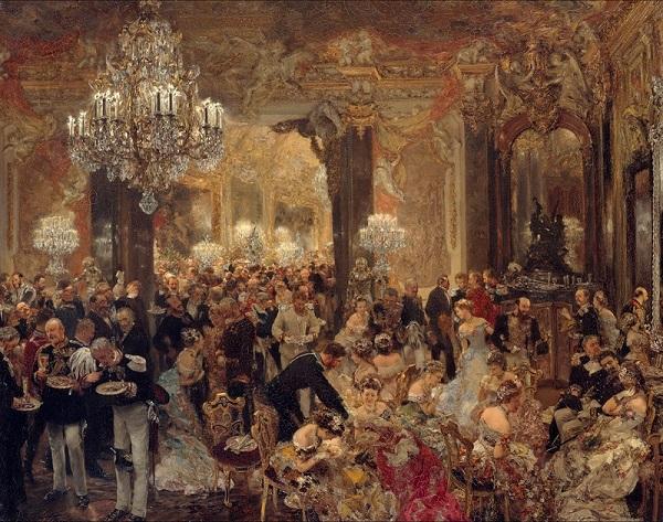 """Адольф Менцель """"Ужин на балу"""" 1878 г."""