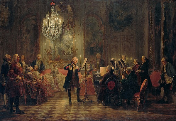 "Адольф фон Менцель ""Концерт для флейты в Сан-Суси"" 1852 г."