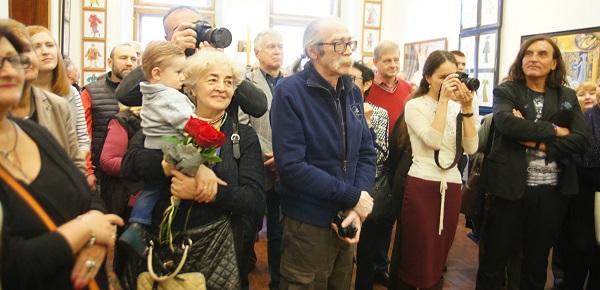 Торжественное открытие  выставки Елены Качелаевой  с Российской Академии художеств Пречистенка, 21 10 октября 2017 года