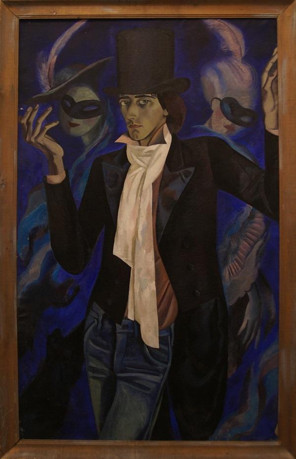"""Елена Качелаева """"Портрет Е.Дворжецкого"""" 1986 г.  холст, масло"""