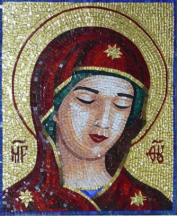 """Александра Мишель """"Дева Мария. Молитва всех надеящихся"""" мозаика"""