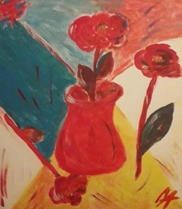 Анна Медалье Композиция с розами