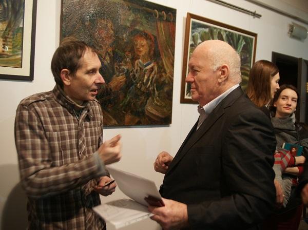 Юрий Петкевич автор выставки и Виктор Пензин  президент Академии Народного искусства