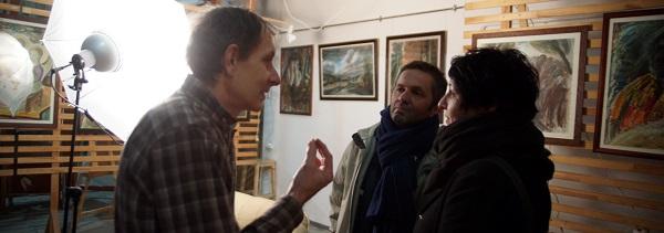 Выставка Юры в Творческой Мастерской Рябичевых Юрий с французами Арт-Релиз.РФ