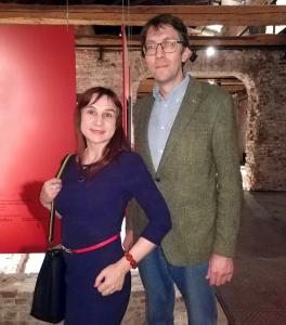 Искусствоведы  Елена Садыкова и Павел Павлинов Предаукционная выставка SOTHEBY`S в МУАРе
