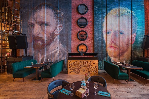 Краски Ван Гога, выставка в рестобаре Ван Гог на Большой Лубянке Арт-Релиз.РФ