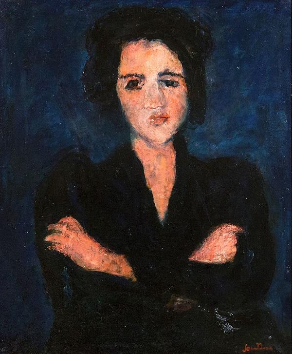"""Хаим Сутин """"Ева"""" холст, масло  65х54 1928 г."""
