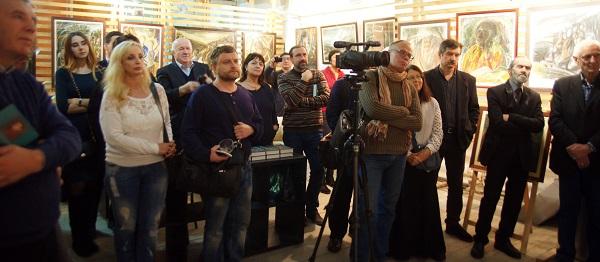 Вернисаж выставки Юрия Петкевича в Творческой Мастерской Рябичевых состоялся 16 ноября 2017 года