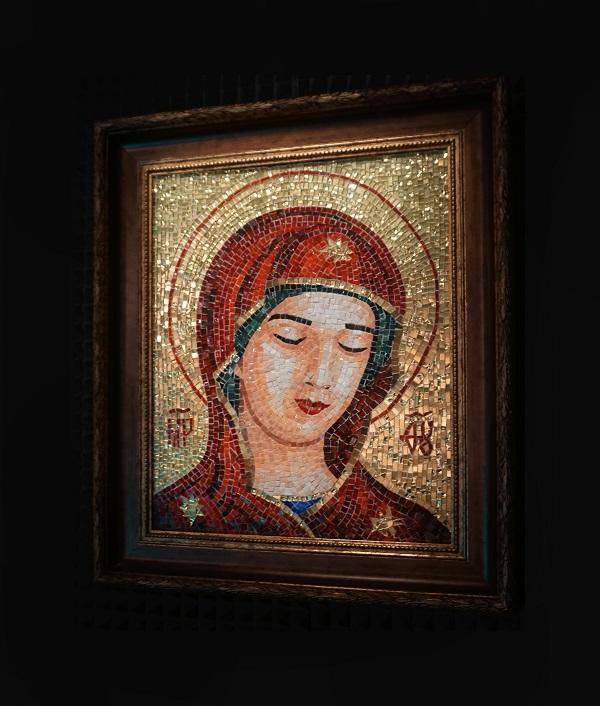 Александра Мишель «Дева Мария. Молитва о всех просящих» мозаика