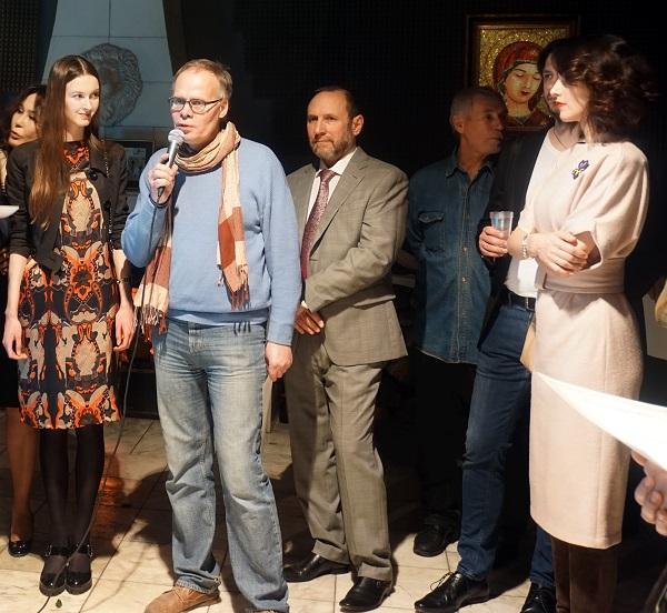 Алексей Горбушин -- один из самых активных участников выставки
