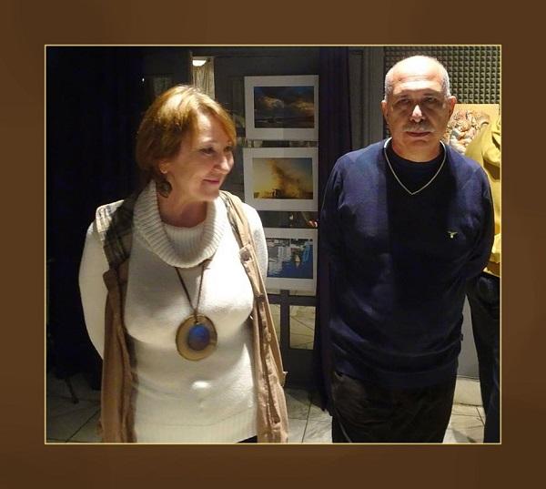 Мария Ставрова и Йослен Арриохас Орсини  участники выставки Bona Mente
