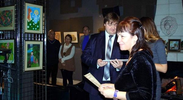 Мария Туманова на вручении дипломов выставки Bona Mente