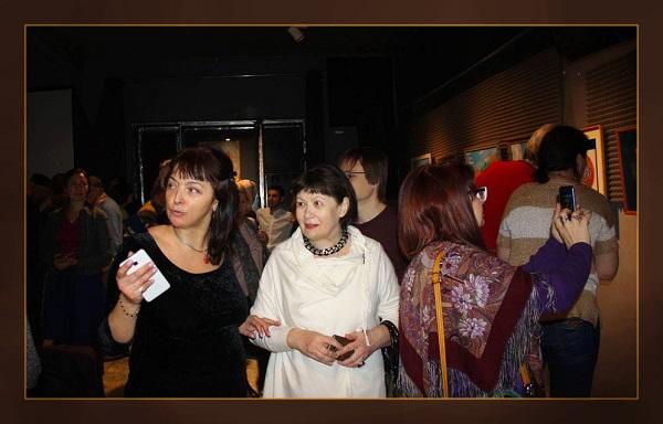 Участники выставки  Мария Туманова  и Лидия Тихонравова