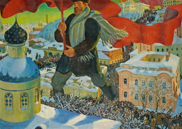 """Борис Кустодиев """"Большевик"""" 1920"""