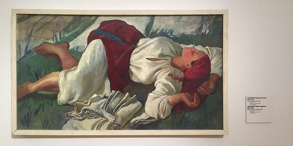 """Зинаида Серебрякова """"Спящая крестьянка"""" 1917 г."""