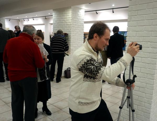 Выставка Анатолия Кулинича после открытия  АРТ-Релиз.РФ