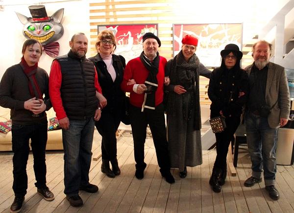 Гости выставки Pinky-Winky в Творческой Мастерской Рябичевых