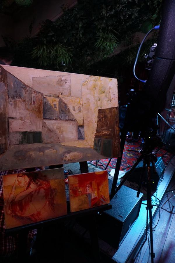 Картины Евгения Глобенко  Презентация в Клубе Алексея Козлова  в рамках программы Михаила Сапожникова  TRANE ZEN ART Лаборатория авангардного джаза