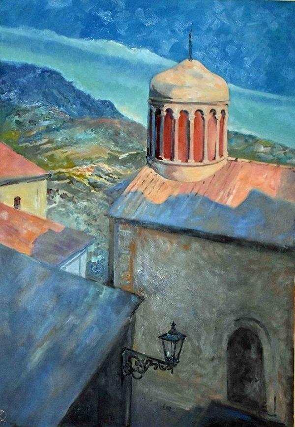 Картина Даниэлы Рябичевой  для Музея Санта-Северины