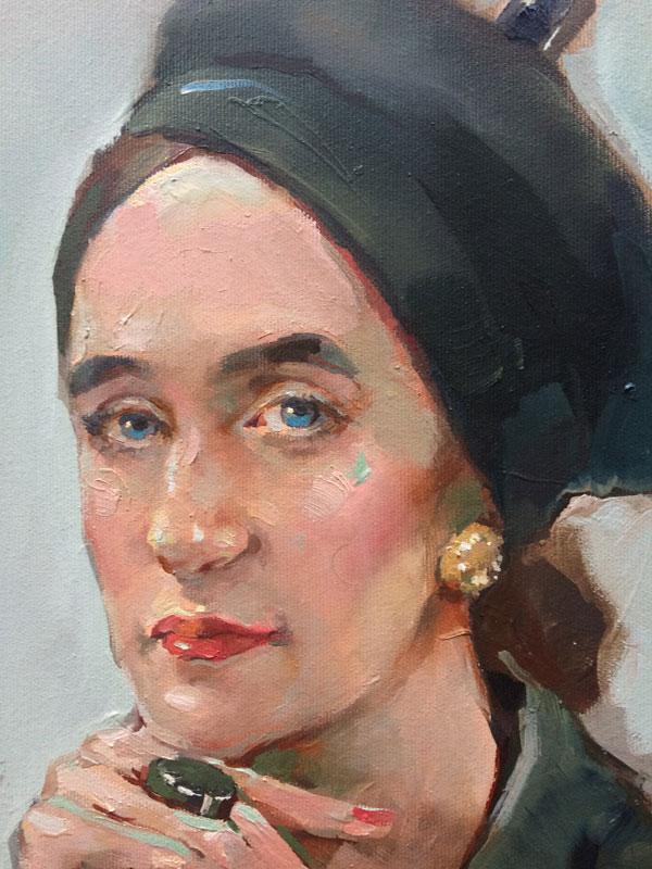Татьяна Кузьмина-Чугунова Портрет художника Елены Лисовской (фрагмент)