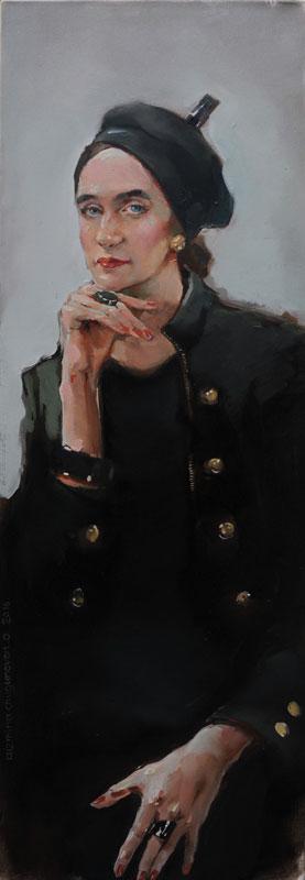 Татьяна Кузьмина-Чугунова Портрет художника Елены Лисовской