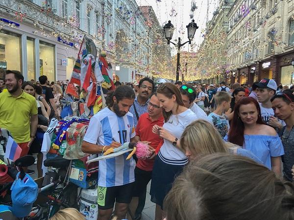 Фото Сергея Погорелого Мундиаль 2018  Москва Никольская улица