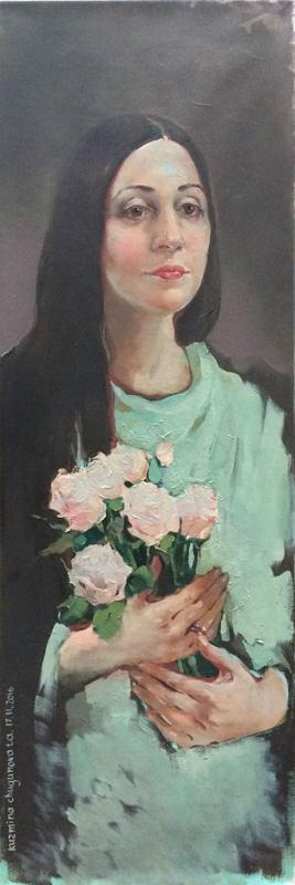 Татьяна Кузьмина-Чугунова Портрет оперной певицы (сопрано) Наиры Асатрян