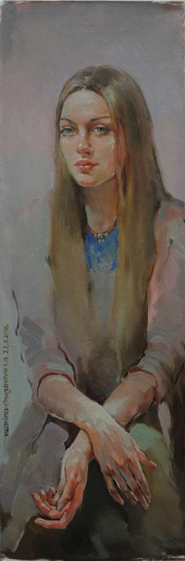 Татьяна Кузьмина-Чугунова Портрет Даниэлы Рябичевой студентки института имени В.И. Сурикова