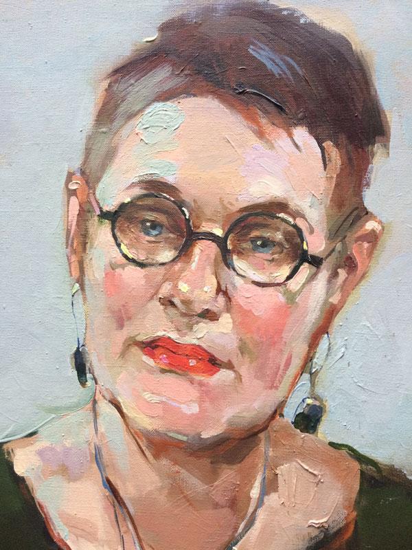Портрет директора студии документального кино Наталии Лисовской (фрагмент)