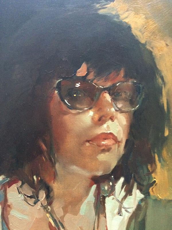 Татьяна Кузьмина-Чугунова Автопортрет (фрагмент)